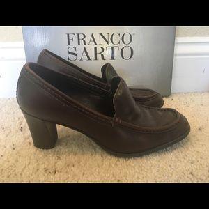 Franco Sarto/Chunky heel/Coffee / size 5